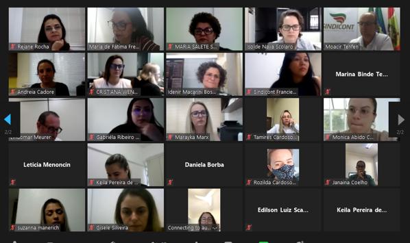 Fecontesc promoveu IX Encontro de Secretárias de forma virtual